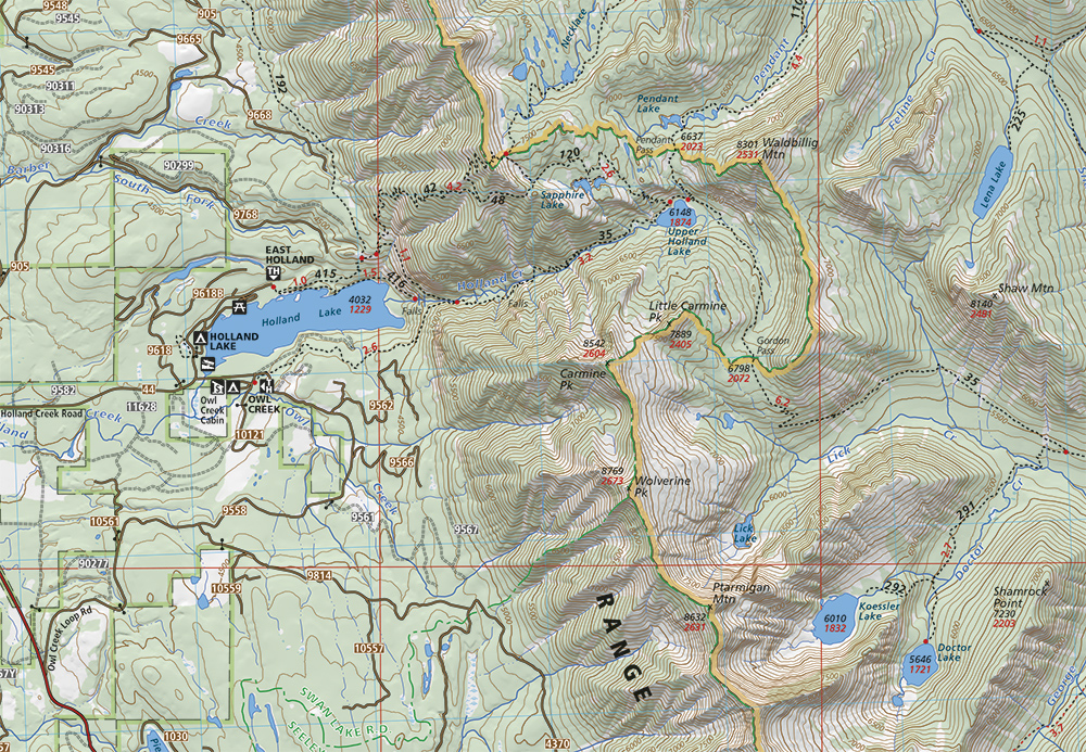 From the Cairn Cartographics Bob Marshall Wilderness South Half map