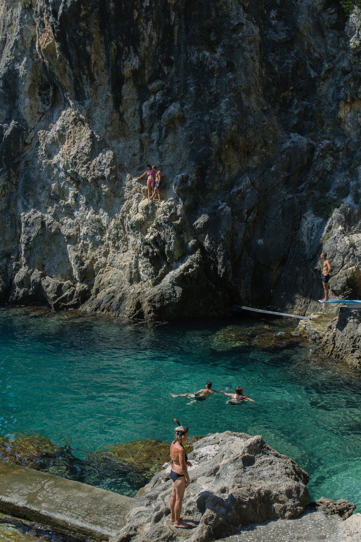 At La Grotta.