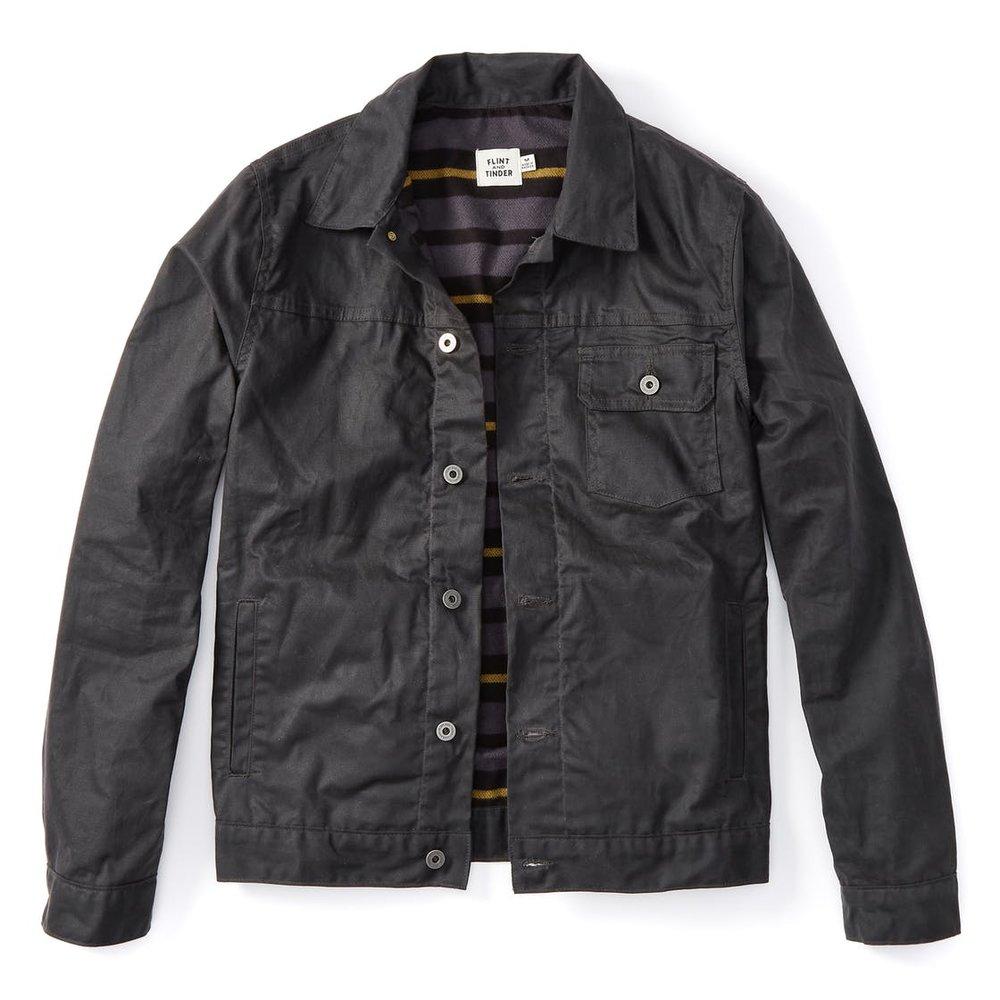 Waxed Trucker Jacket - Waterproof and flannel lined. ($220)