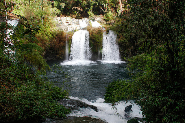 Ojos del Caburga waterfalls