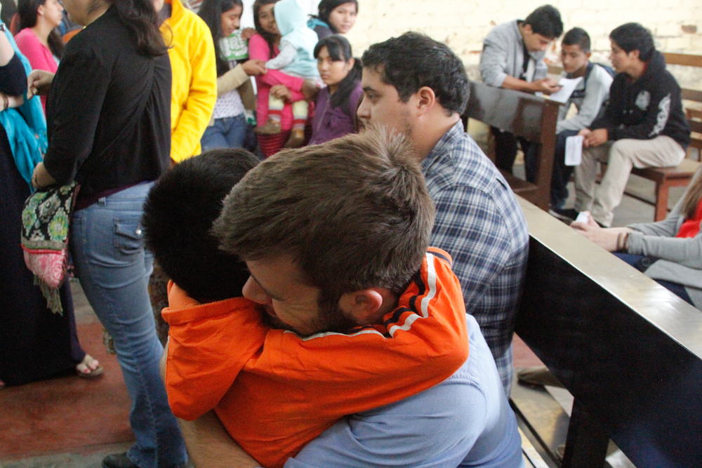 Saying goodbye was absolutely hard. Here is Colin with our sweetest student Snyder.