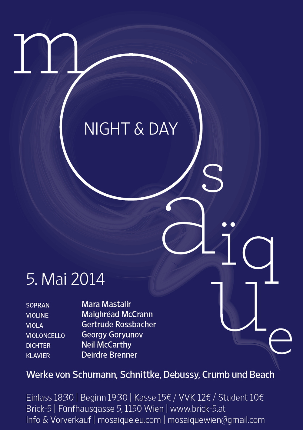 Mosaïque Night and Day, 5 May 2014