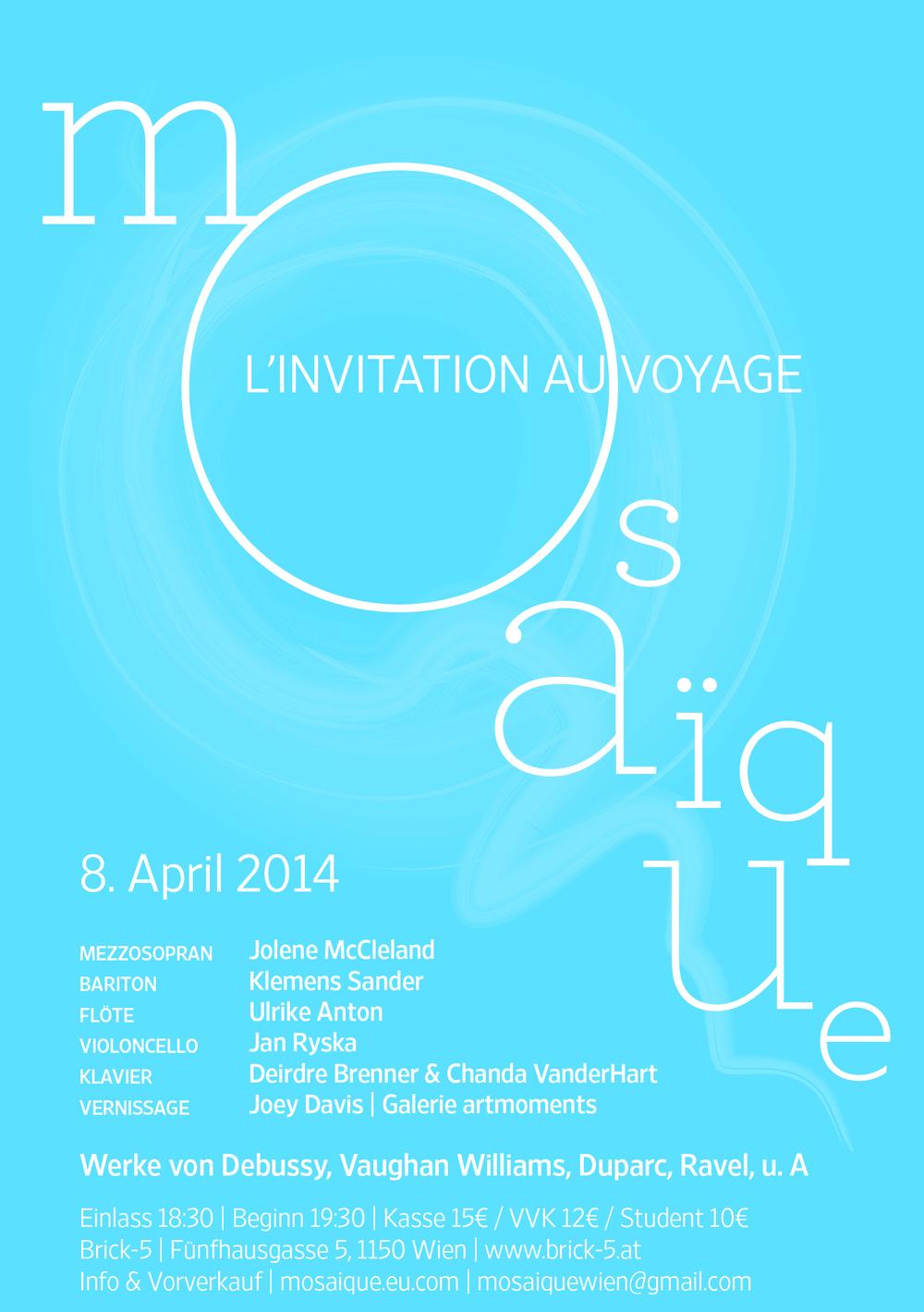 Mosaïque L'invitation au voyage, 8 April 2014