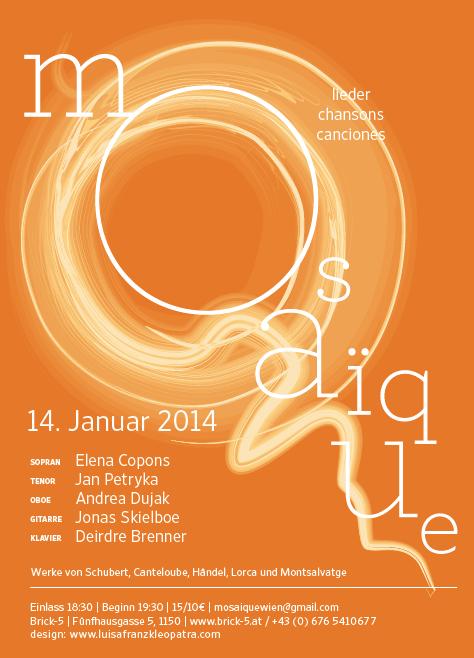 Mosaïque Lieder, Chansons & Canciones, 14 January 2014