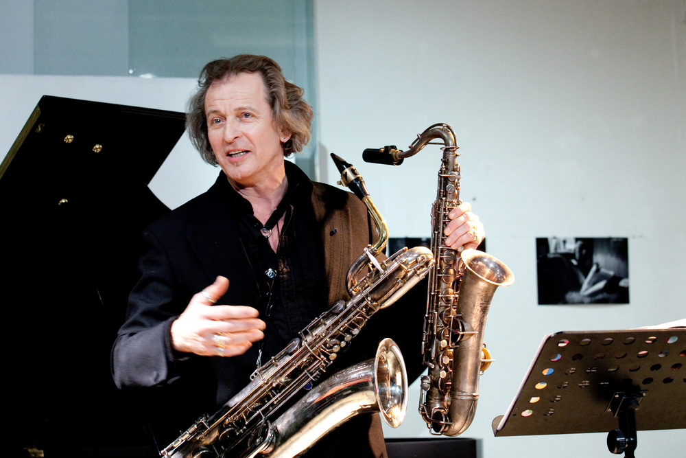 Huub Claessens and his many saxophones