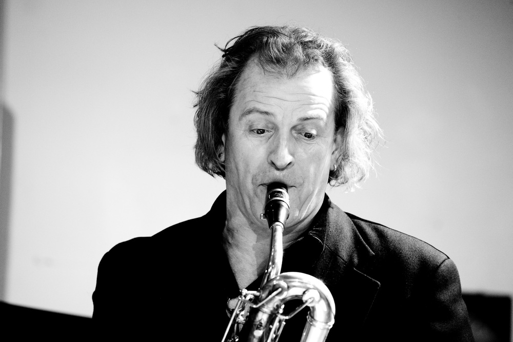 Huub Claessens blows his sax