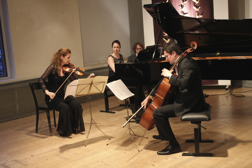 Maighréad McCrann, violin, Deirdre Brenner, piano and Georgy Goryunov, cello