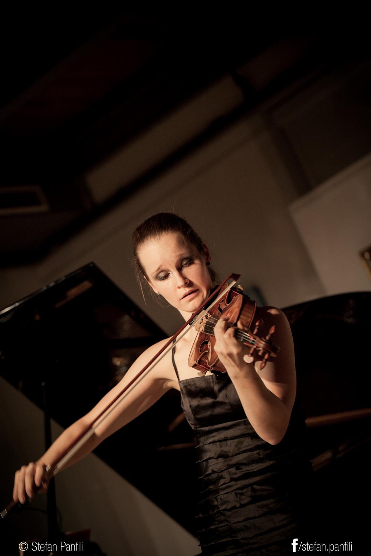 Sonja Schebeck, violinist, performs Saint-Saens