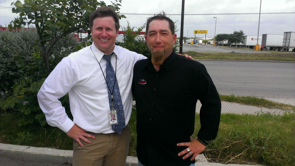 Kens 5 News reporter Dillon Collier with Professional Driver and TAT William Brady