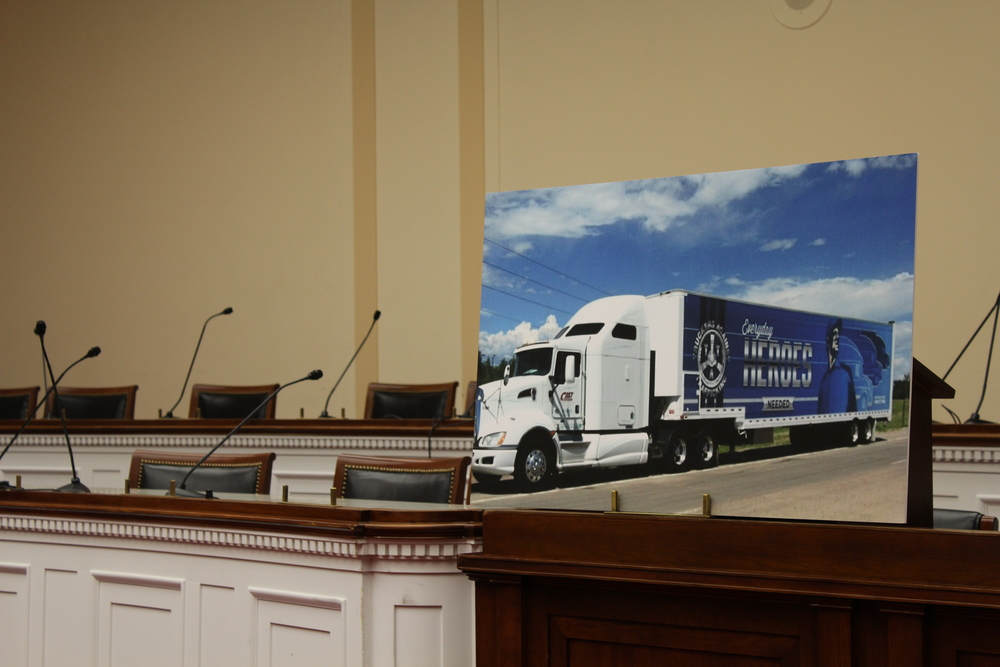 A large photo of the Freedom Drivers Project was displayed at the award ceremony.
