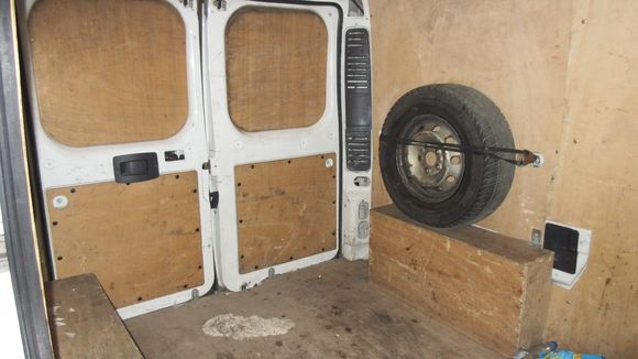 The inside of a van used for human trafficking that was captured in the Czech Republic last week. (Photo: CZECH REPUBLIC POLICE / HANDOUT, EPA)