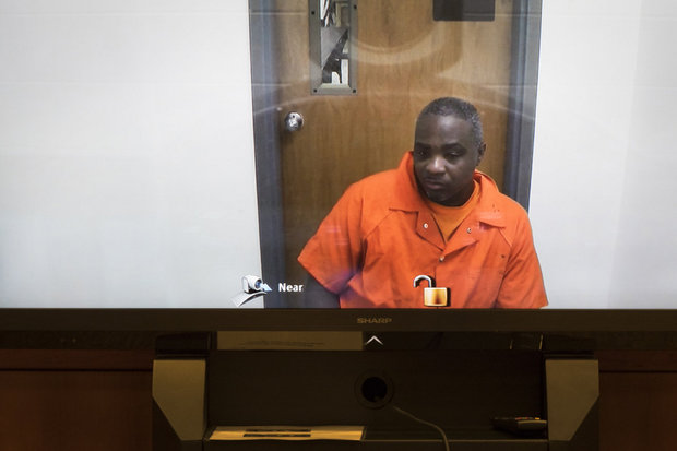 Video court appearance of defendant Darrell Smith on April 1, 2016. (Michael Mancuso | For NJ.com )(Michael Mancuso | For NJ.com)