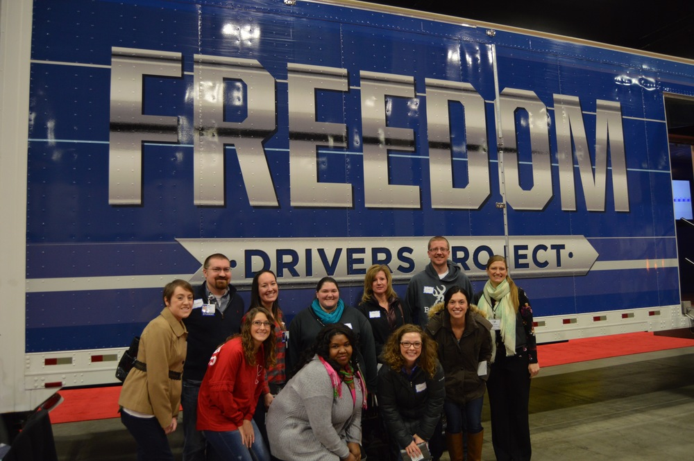 Nursing students from Peoria Methodist College visited the Freedom Drivers Project during the Mid-West Truck & Trailer Show.