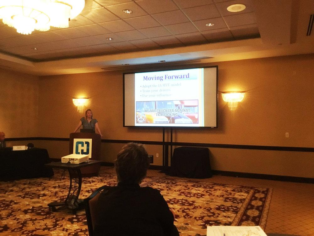 Kendis Paris, TAT Executive director, presented at the Help In.c Board meeting