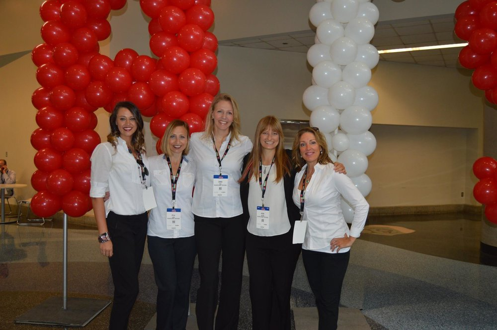 The TAT Team at GATS (left to Right): Michelle Bishop, Kylla Lanier, Kendis Paris, Helen Van Dam, and Molly Wolff