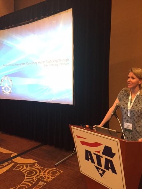 Kendis Paris, TAT executive director, speaks at the ATA conference.