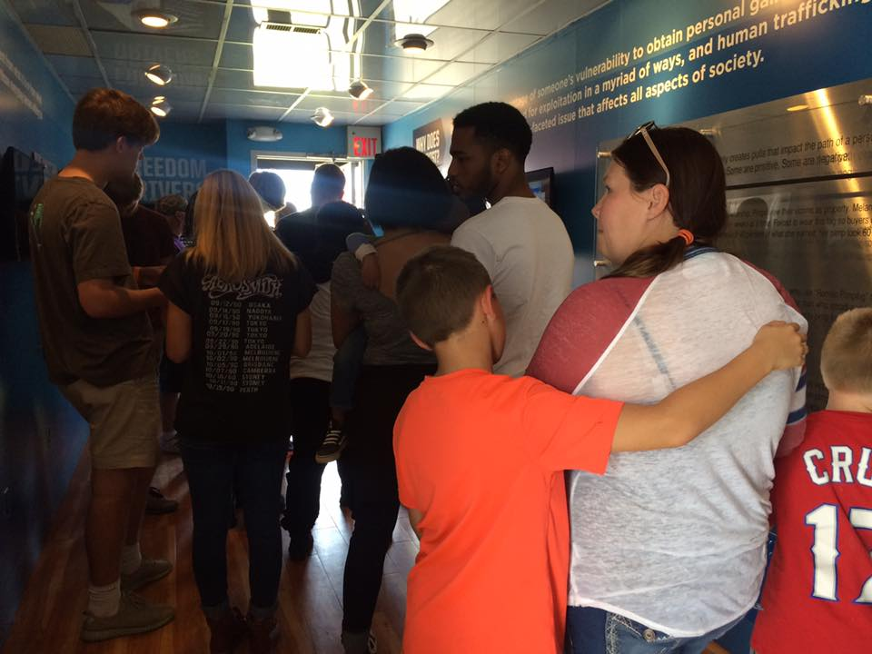 Fairgoers tour the FDP at the Arkansas State Fair.