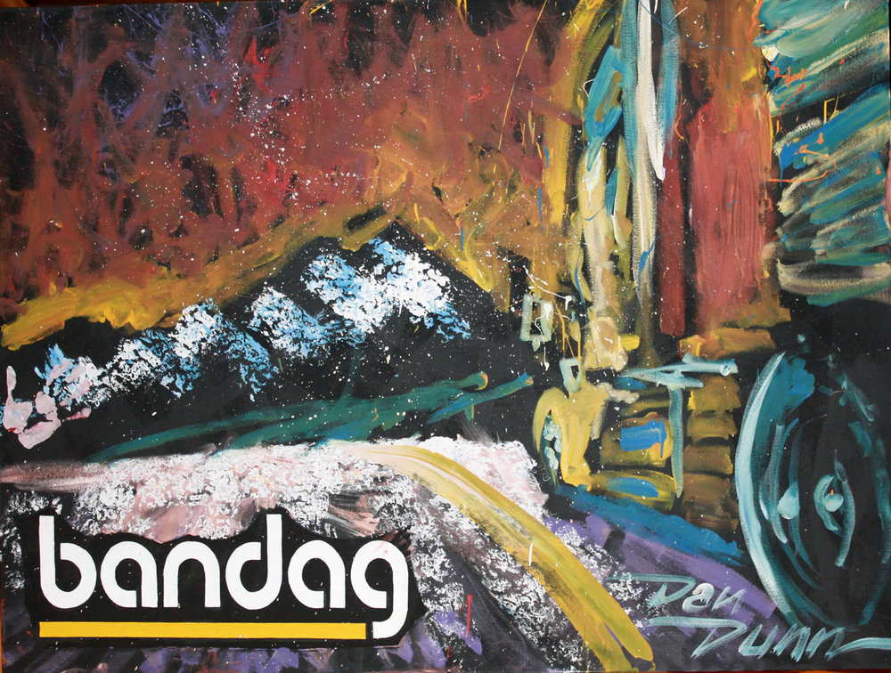 This Bandag painting was created and auctioned off at the event, with proceeds of the auction benefitting TAT.