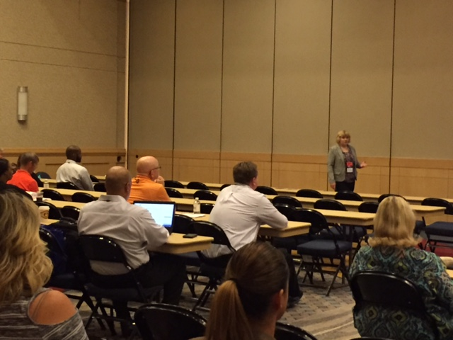 Laura cyrus, tat operations director, spoke to attendees at the ammva conference in chattanooga.