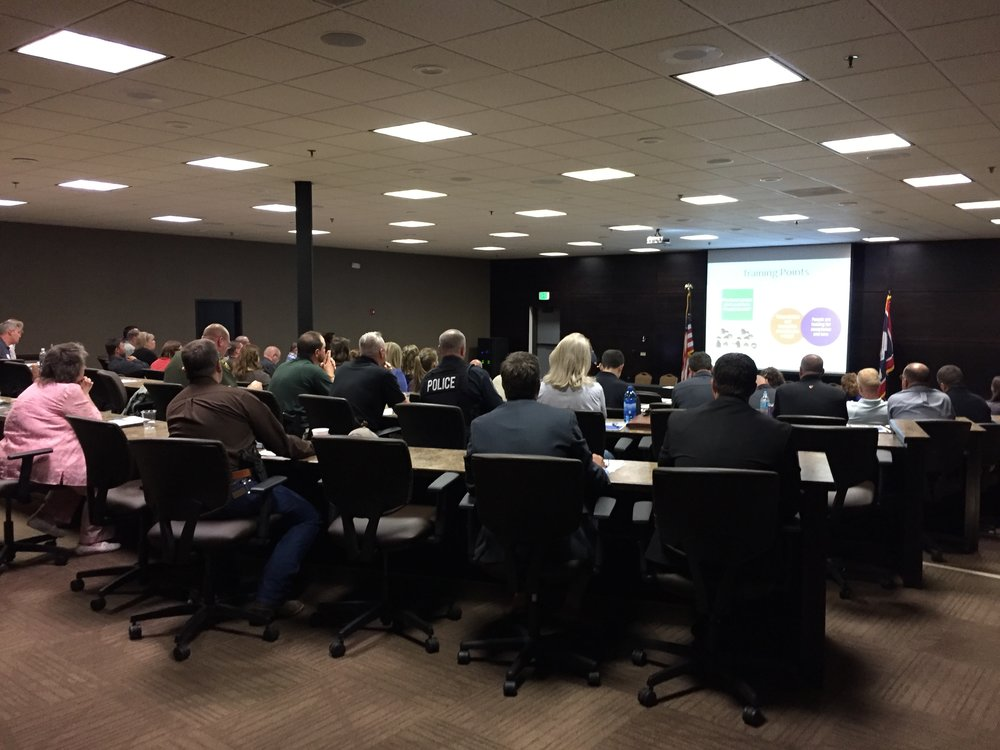 The Wyoming coalition build had an audience of over 50 from law enforcement, trucking and travel plaza groups.