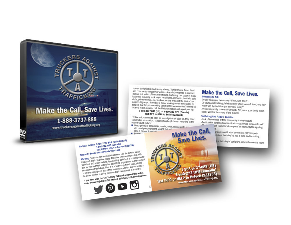 TAT asks CDL instructors and safety directors to show the 26 minute training DVD to their drivers, and review the information on the TAT wallet card. -