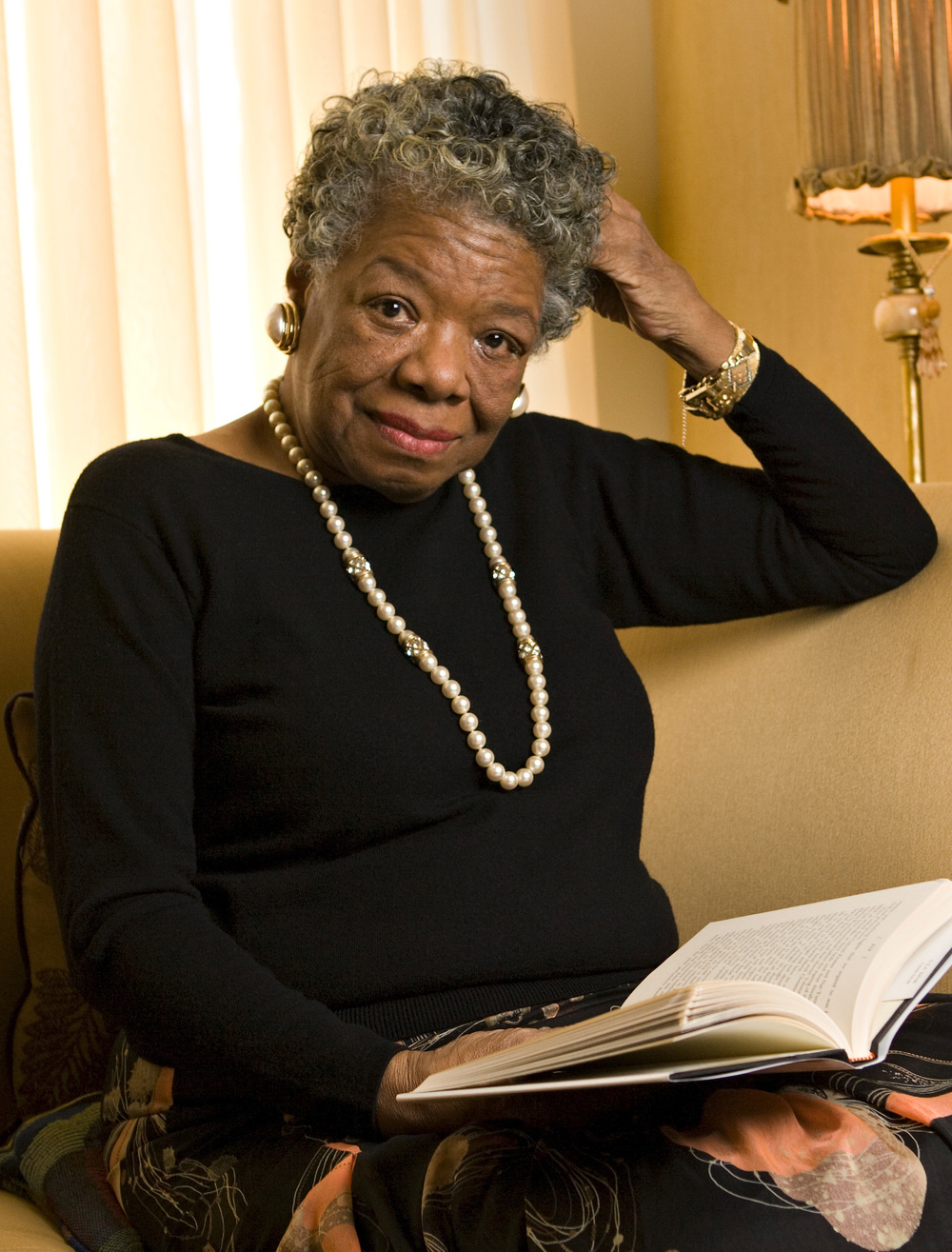 Wake Forest professor Maya Angelou, the Reynolds Professor of American Studies, in her home in Winston-Salem.