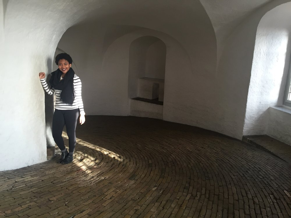 Inside the Round Tower (also the only picture of me because I'm shy and didn't ask for too many)