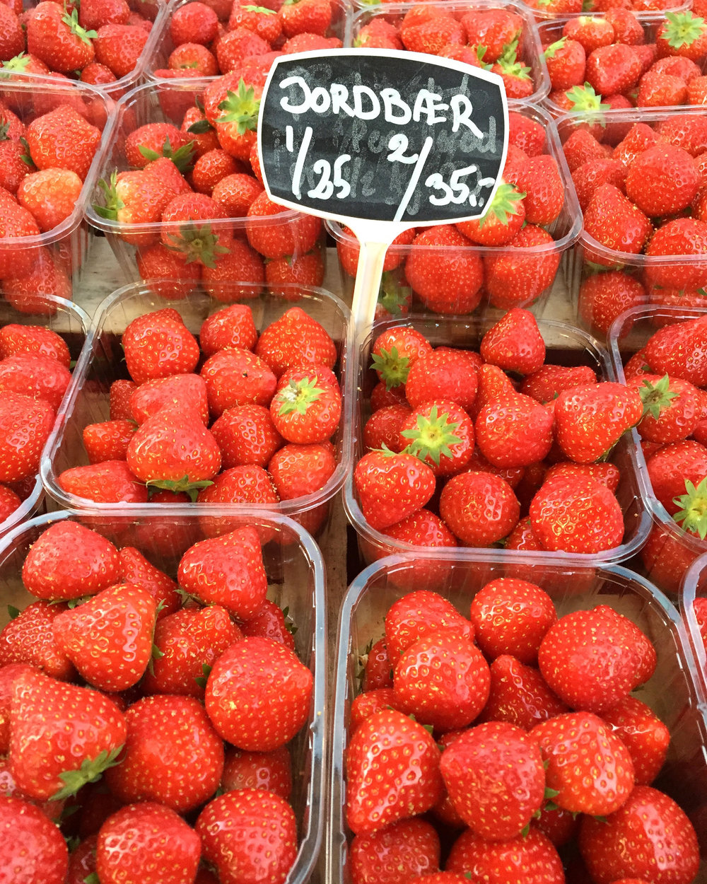Yummy Danish strawberries