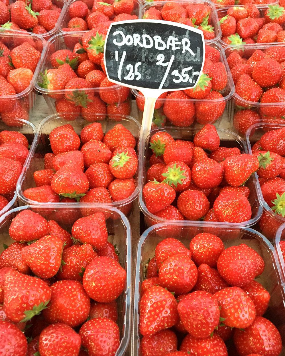 Yummy Danish strawberries