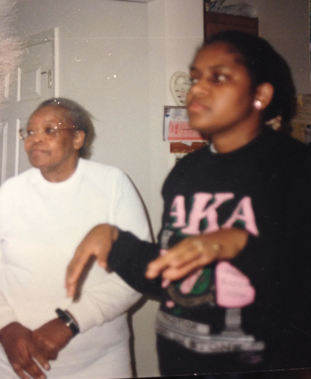 My grandmother and mom back in the day. It's always crazy to me how alike my mom and I look!