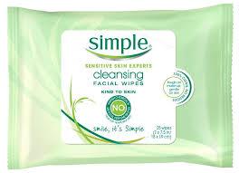 simple cleansing wipe