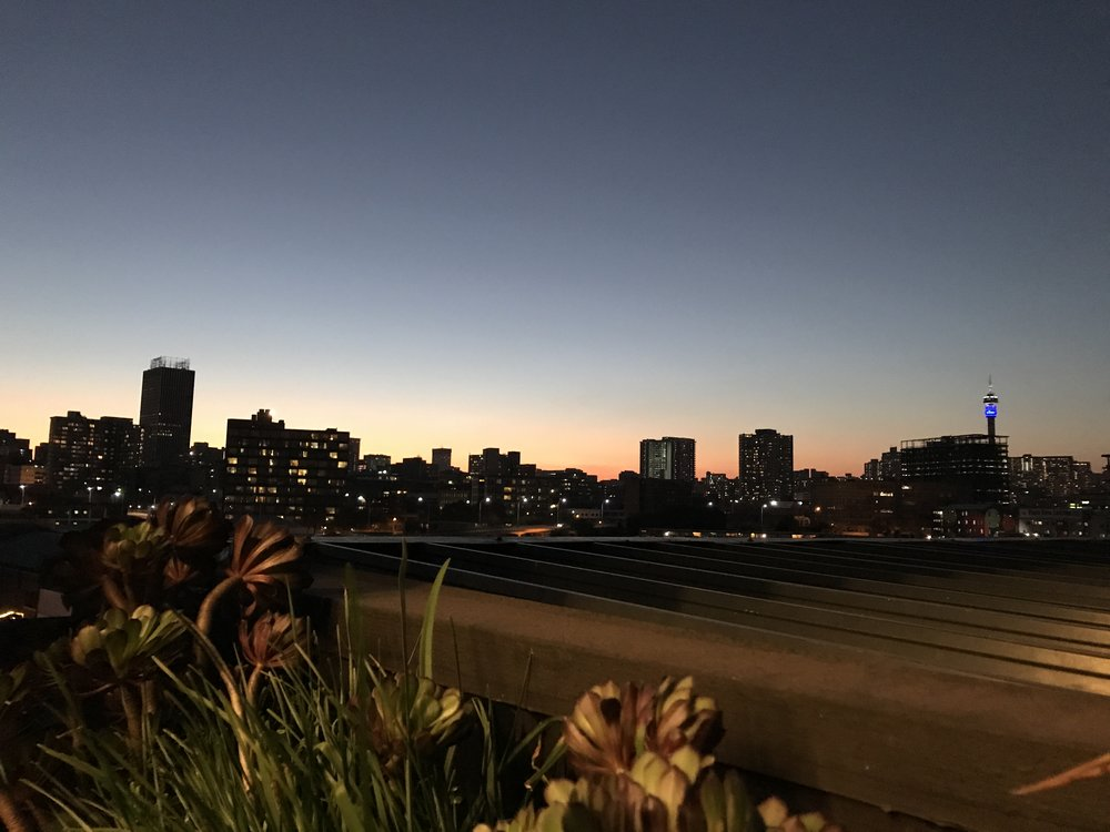 View of Jozi CBD from the venue we were at.
