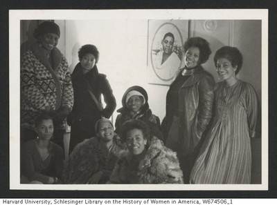 Black Women Writers Club. Pictured: Toni Morrison,Alice Walker, Ntozake Shange, June Jordan, Lori Sharpe and Audrey Edwards.
