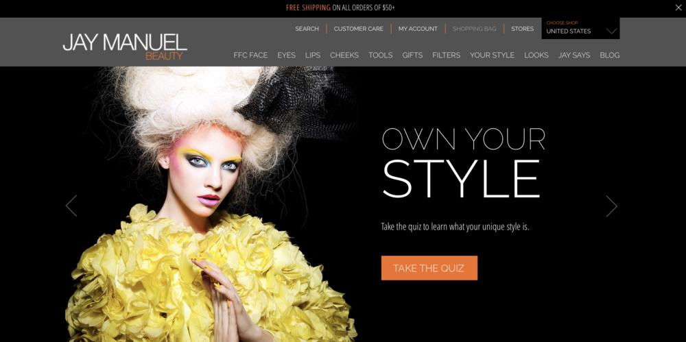 A screenshot of the homepage.