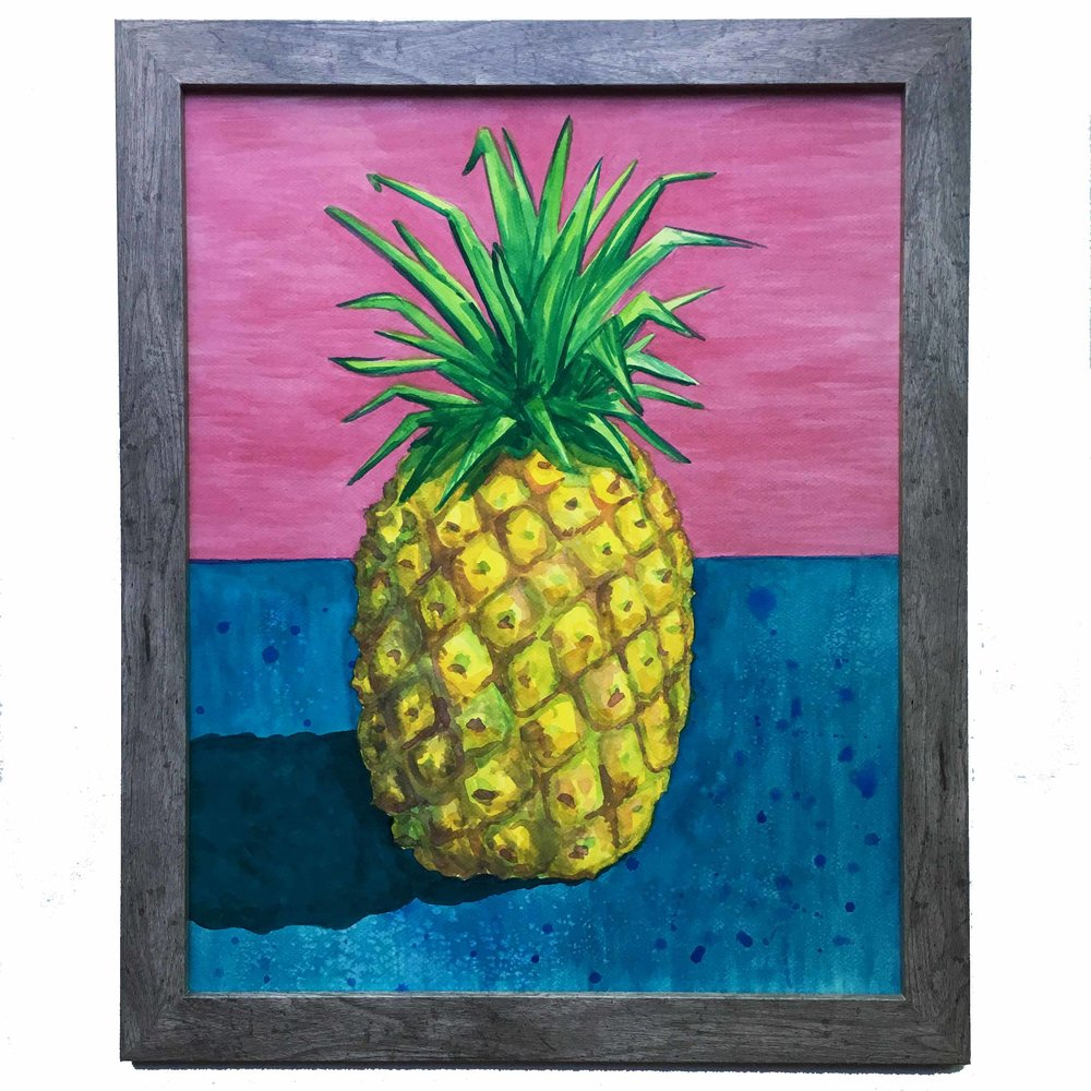 """Spikey Apple""  16x20in"