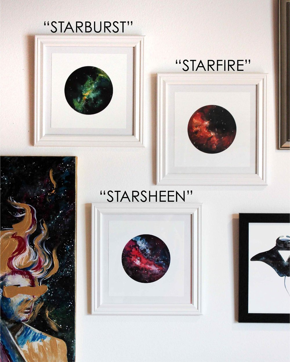"""Galaxies"" Series  8x8in Print, 10x10 in frame"