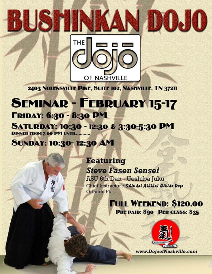Sensei Fasen aikido seminar in Nashville