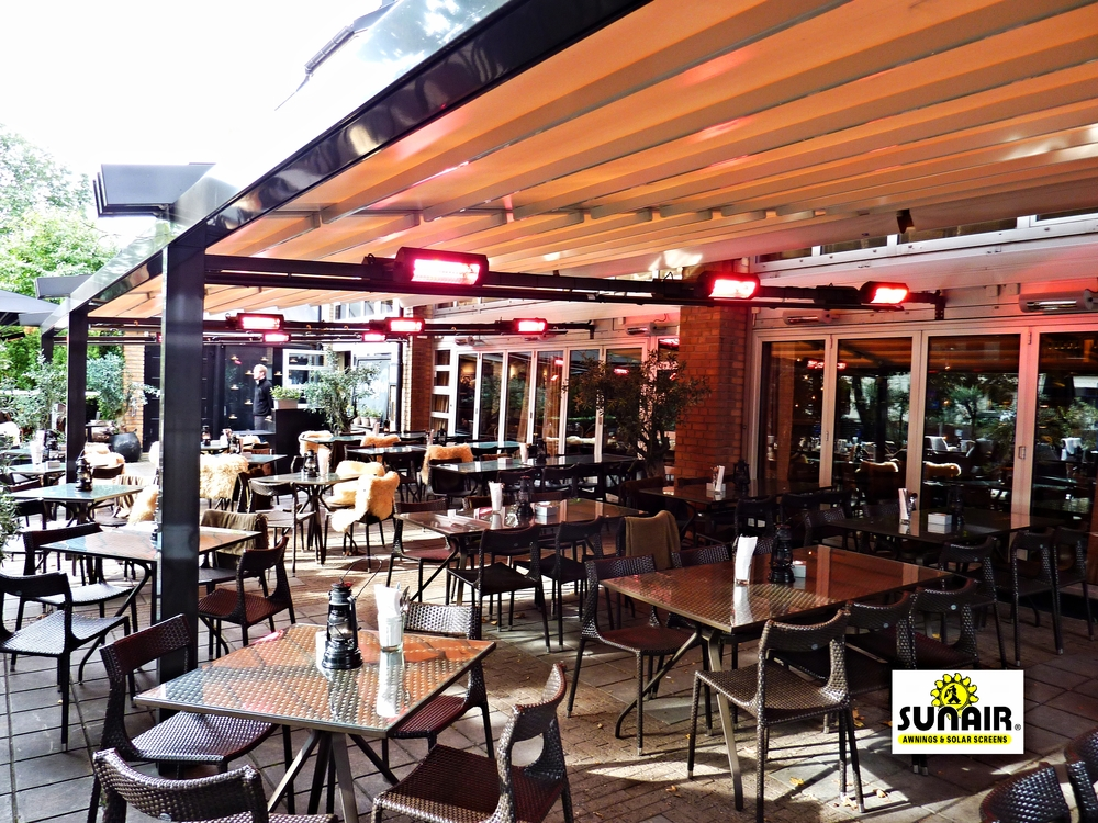SunAir Pergola Pratic Motorized Retractable Patio Awnings For Restaurants,  Resorts, Hotels, Bars, Community Centers, And Many Other Commercial ...