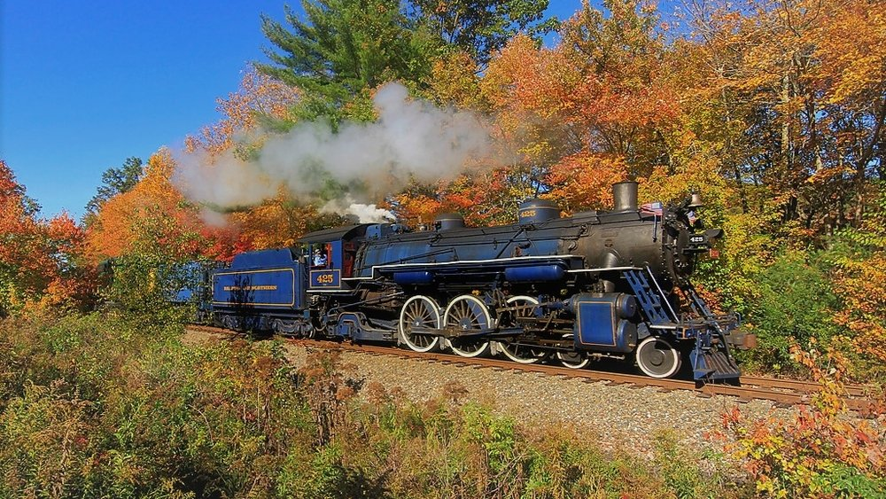 Fall Foliage Train Rides - Departing Port Clinton Station