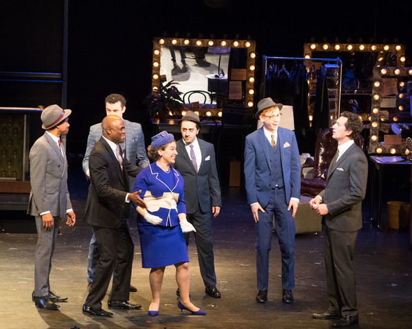 as Tyler in  Merrily We Roll Along  with Eric B. Anthony, Travis Leland, Wayne Brady, Donna Vivino, Amir Talai, and Aaron Lazar Wallis Annenber Center for Performing Arts (2016)  photo: Lily Lim