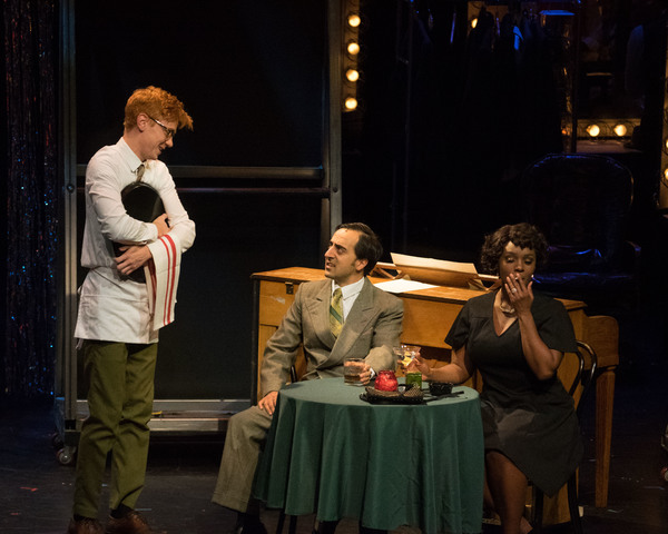 as Tyler in  Merrily We Roll Along  ith Eric B. Anthony, Travis Leland, Wayne Brady, Donna Vivino, Amir Talai, and Aaron Lazar Wallis Annenber Center for Performing Arts (2016)  photo: Lily Lim