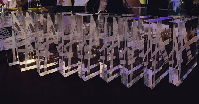 Hey guys, I think we won. 11 entries/9 awards. #Addyawards2016 #kalicodesign #sassmagazine #golds