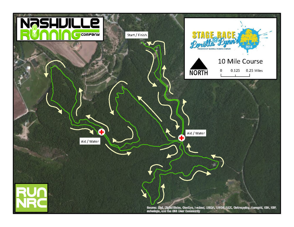 10 Mile Course Map