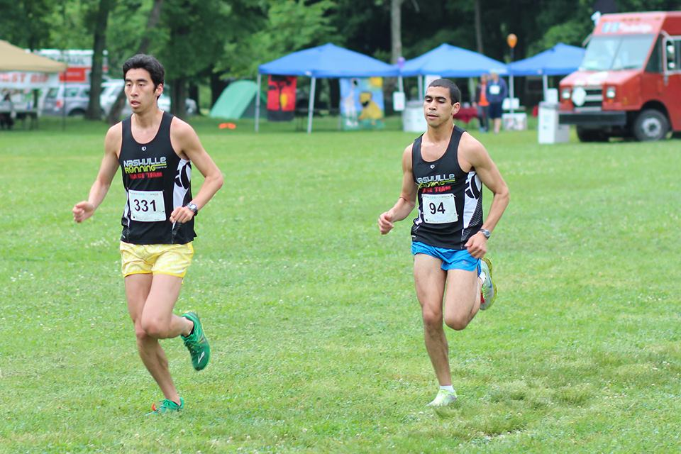 Ben Li (Left) and Joey Elsakr (Right) racing side by side at ellie's run for Africa earlier this year.