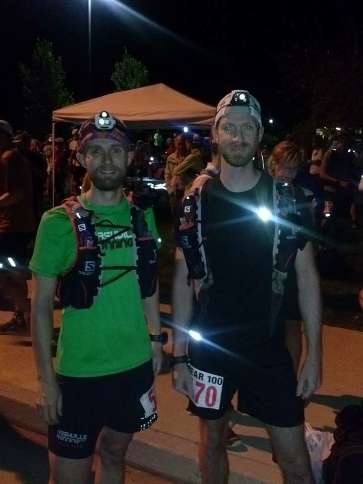 Jeff Davis and Steven before Bear 100