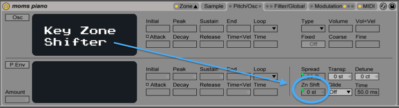 ableton sampler key zone shift afrodjmac