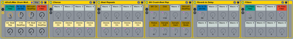 full drum rack ableton live afrodjmac