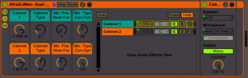 Dual Mic Dual Cabinet for Ableton