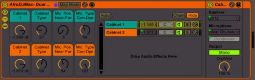 Free Ableton Live Rack #66: Dual Mic Dual Cabinet — Brian Funk