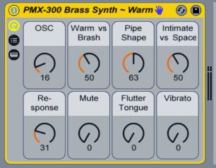 AfroDJMac — Free Ableton Live Pack #115: PMX 300 Brass Synth